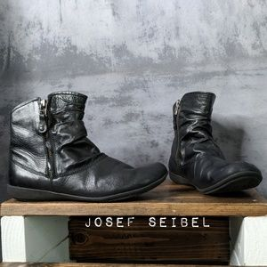 Josef Seibel Shoes - Josef Seibel Faye 5 Dual-Zip Leather Booties 😎